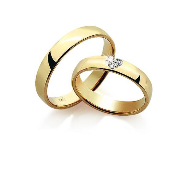 Forlovelsesringer m/diamant 0540/7240 4mm